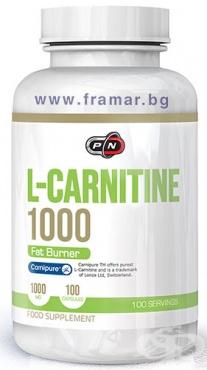 Изображение към продукта ПЮР НУТРИШЪН L - КАРНИТИН капсули 1000 мг * 100