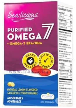 СИЙ ЛИШЪС ОМЕГА-7 + ОМЕГА-3 капсули 210 мг. * 60 НАТУРАЛ ФАКТОРС - изображение