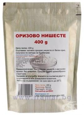 Изображение към продукта ОРИЗОВО НИШЕСТЕ 400 г ЯЖ ПОЛЕЗНО