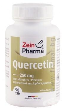 Изображение към продукта ЗЕИН ФАРМА КВЕРЦЕТИН капсули 250 мг * 90
