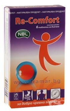 Изображение към продукта РЕ - КОМФОРТ таблетки за дъвчене * 6 НОБЕЛ
