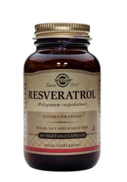 Изображение към продукта СОЛГАР РЕСВЕРАТРОЛ капсули 100 мг. * 60
