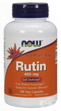 НАУ ФУДС РУТИН капсули 450 мг. * 100 - изображение