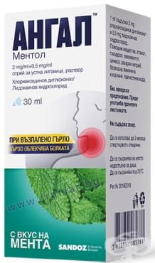 АНГАЛ МЕНТОЛ спрей за уста 30 мл. - изображение