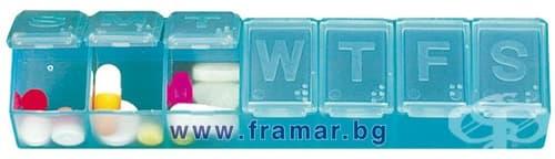 Изображение към продукта ДОЗАТОР ЗА ЛЕКАРСТВА ЗА 7 ДНИ - ЗА ЕДНОКРАТЕН ПРИЕМ