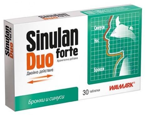 Изображение към продукта СИНУЛАН ДУО ФОРТЕ таблетки * 30 ВАЛМАРК