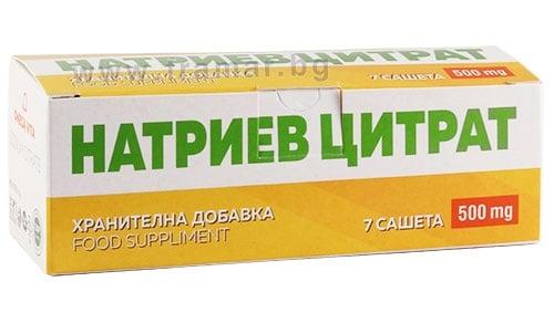 Изображение към продукта НАТРИЕВ ЦИТРАТ саше 500 мг * 7 ОМЕГА ВИТА