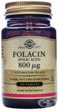 Изображение към продукта СОЛГАР ФОЛИЕВА КИСЕЛИНА табл. 800 мкг. * 100