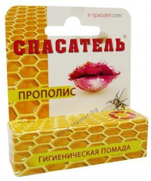 СПАСАТЕЛЬ балсам за устни с прополис 4 гр. - изображение