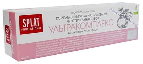 Изображение към продукта ПАСТА ЗА ЗЪБИ СПЛАТ ПРОФЕШАНЪЛ УЛТРАКОМПЛЕКС 40 мл.