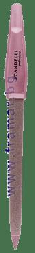 СТАНДЕЛИ РОЗОВА МЕТАЛНА ПИЛА ЗА НОКТИ 17.8 см - изображение