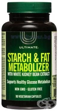 Изображение към продукта УЛТИМАТ STARCH & FAT METABOLIZER капсули * 90 НАТУРАЛ ФАКТОРС