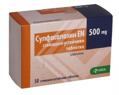 Изображение към продукта СУЛФАСАЛАЗИН EN  таблетки 500 мг * 50 KRKA