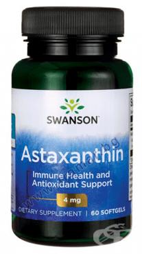 Изображение към продукта СУОНСЪН АСТАКСАНТИН капсули 4 мг * 60 SWU730