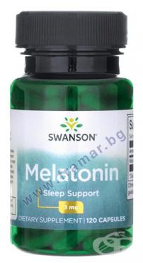 Изображение към продукта СУОНСЪН МЕЛАТОНИН капсули 3 мг * 120 SW502
