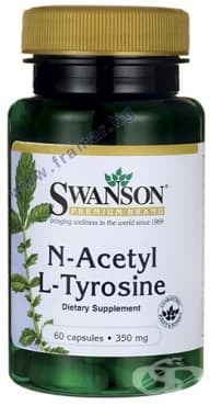 СУОНСЪН N-АЦЕТИЛ L-ТИРОЗИН капсули 350 мг. * 60 - изображение