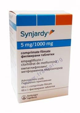 Изображение към продукта СИНДЖАРДИ таблетки 5 мг. / 1000 мг. * 60