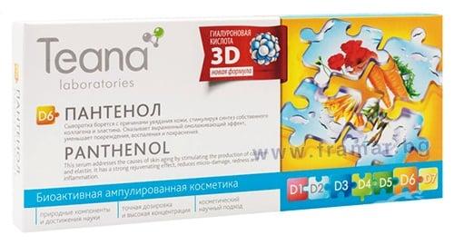 Изображение към продукта ТЕАНА СЕРУМ ПАНТЕНОЛ 2 мл * 10
