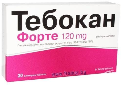 Изображение към продукта ТЕБОКАН ФОРТЕ табл. 120 мг. * 30