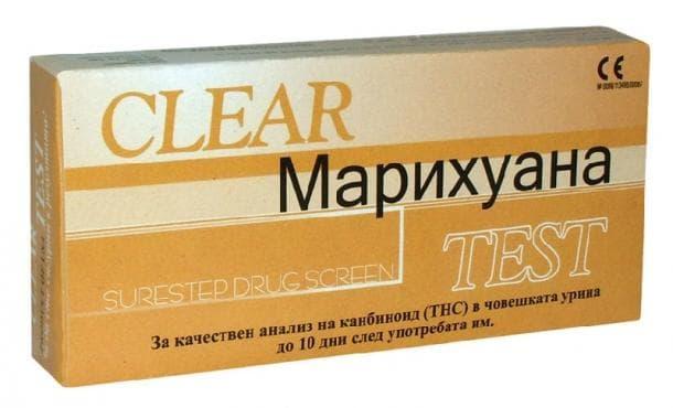 Изображение към продукта ТЕСТ ЗА НАРКОТИЦИ МАРИХУАНА ЛЕНТА - CLEAR * 1