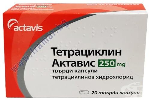 Изображение към продукта ТЕТРАЦИКЛИН капсули 250 мг * 20 АКТАВИС