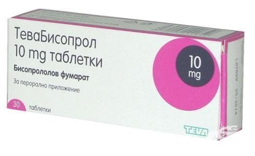 Изображение към продукта ТЕВАБИСОПРОЛОЛ табл. 10 мг. * 30