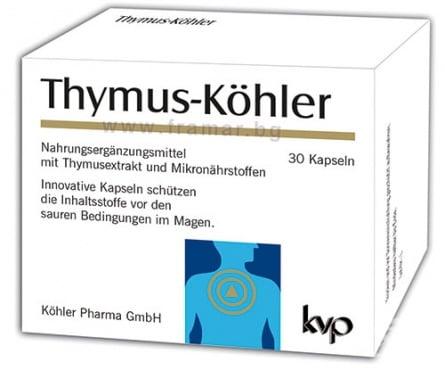 Изображение към продукта ТИМУС - КЬОЛЕР капсули * 30 КЬОЛЕР ФАРМА