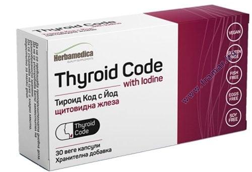 Изображение към продукта ТИРОИД КОД + ЙОД капсули * 30 ХЕРБА МЕДИКА
