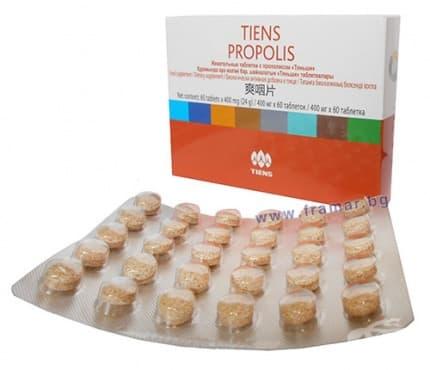 Изображение към продукта ПРОПОЛИС таблетки 400 мг. * 60 ТИЕНС