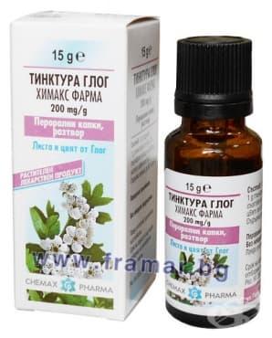 Изображение към продукта ТИНКТУРА ГЛОГ 200 мг. / 1 гр. 15 гр. ХИМАКС