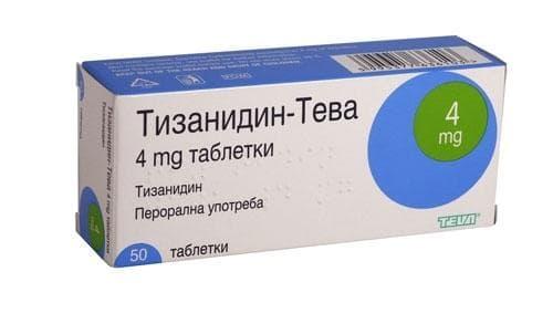 Изображение към продукта ТИЗАНИДИН табл. 4 мг. * 50 ТЕВА