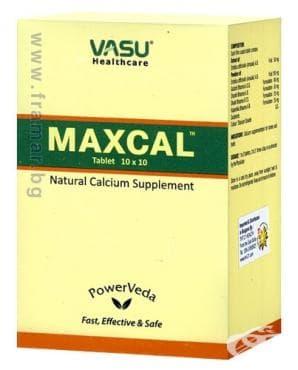 Изображение към продукта МАКСКАЛ НАТУРАЛЕН КАЛЦИЙ таблетки * 100 TNT 21