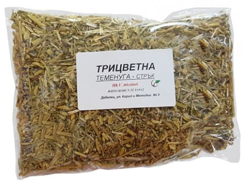 Изображение към продукта ТРИЦВЕТНА ТЕМЕНУГА СТРЪК 50 гр. ФИТО КОНСУЛТ