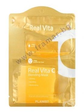 Изображение към продукта ДОРИ МАСКА ЗА ЛИЦЕ REAL VITA С ВИТАМИН C 30 мл