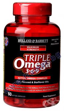 Изображение към продукта ОМЕГА 3 - 6 - 9 ТРОЙНА СИЛА капсули * 60 HOLLAND & BARRETT