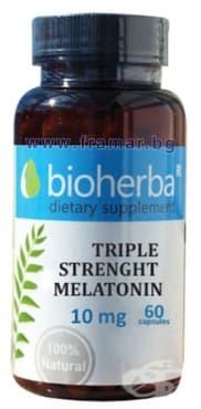 БИОХЕРБА МЕЛАТОНИН ТРОЙНА СИЛА капсули 10 мг. * 60 - изображение