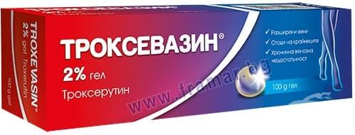 Изображение към продукта ТРОКСЕВАЗИН гел 2% 100 г АКТАВИС