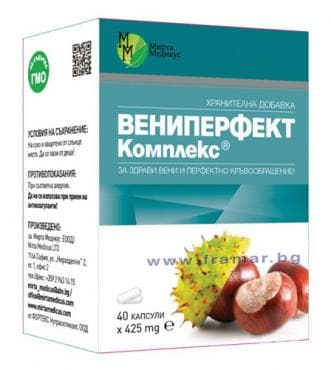 ВЕНИПЕРФЕКТ КОМПЛЕКС капс. 425 мг. * 40 - изображение