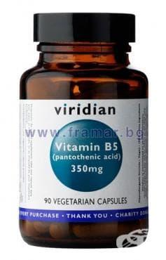 Изображение към продукта ВИТАМИН Б5 капс. 350 мг. * 90 VIRIDIAN
