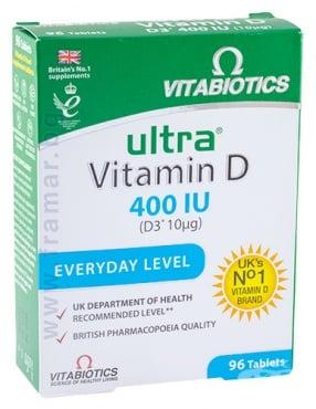 Изображение към продукта УЛТРА ВИТАМИН D3 таблетки 400 IU * 96 ВИТАБИОТИКС