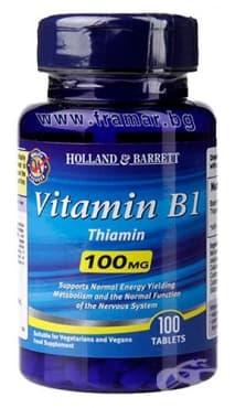 Изображение към продукта ВИТАМИН Б 1 (ТИАМИН) таблетки 100 мг * 100 HOLLAND & BARRETT