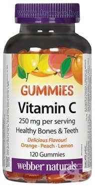 Изображение към продукта ВИТАМИН Ц ГЪМИС желирани таблетки 125 мг * 120 УЕБЪР НАТУРАЛС