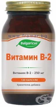 БУЛГАРИКУС ВИТАМИН Б-2 капсули 250 мг. * 120 - изображение