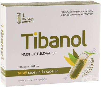 Изображение към продукта ТИБАНОЛ капсули * 10 ВИТАСЛИМ ИНОВЕ