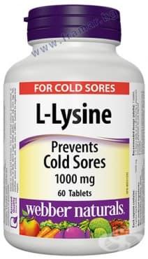 Изображение към продукта L - ЛИЗИН таблетки 1000 мг * 60 УЕБЪР НАТУРАЛС