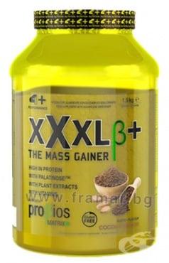 Изображение към продукта 4+ НУТРИШЪН XXXL+ ПРОТЕИН ГЕЙНЪР 1.5 кг / 25 дози