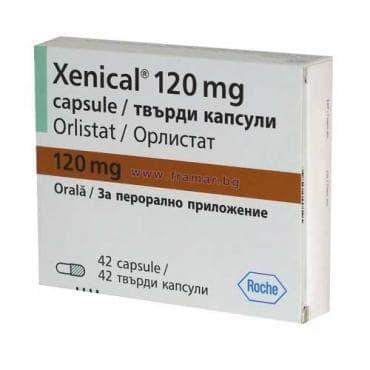 Изображение към продукта КСЕНИКАЛ капсули 120 мг. * 42