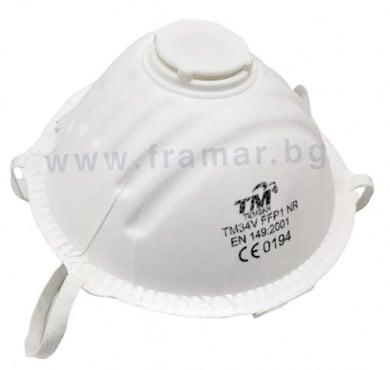 Изображение към продукта ПРЕДПАЗНА МАСКА С КЛАПАН TM TEMSAN 34V FFP1 NR * 1