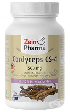 Изображение към продукта ЗЕИН ФАРМА КОРДИЦЕПС CS - 4 капсули 500 мг * 120