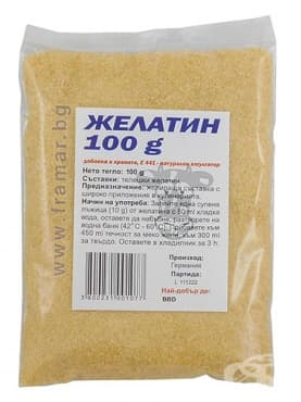 Изображение към продукта ТЕЛЕШКИ ЖЕЛАТИН НА ПРАХ 100 гр. ЯЖ ПОЛЕЗНО